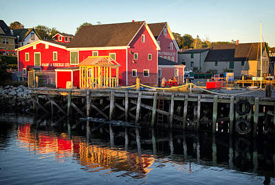 Photograph - Evening Along The Lunenburg Waterfront by Carolyn Derstine