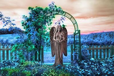 Photograph - Evening Angel In The Garden by Debra and Dave Vanderlaan