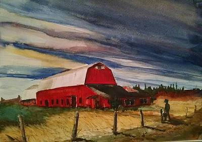 Donny Painting - Evening Approaching by Don Seib
