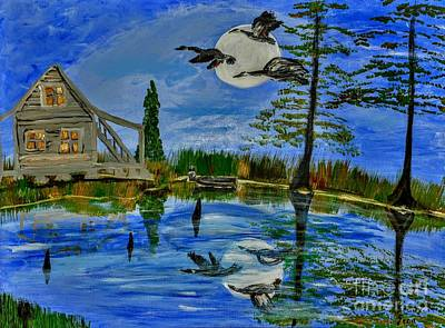 Drake Mixed Media - Evening At Acadiana Pond by Seaux-N-Seau Soileau