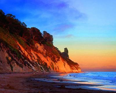 Photograph - Evening At Arroyo Burro by Timothy Bulone