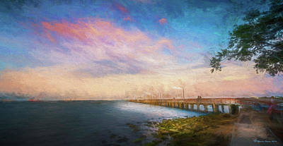 Vibrant Color Photograph - Evening At Ballast Point by Marvin Spates