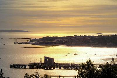 Photograph - Evening At Bar Harbor Maine by Sherman Perry