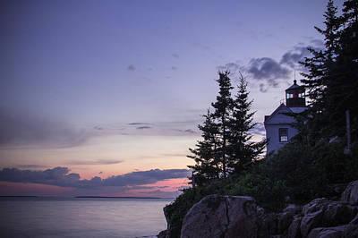 Evening At Bass Harbor Lighthouse Art Print by Steven Bateson