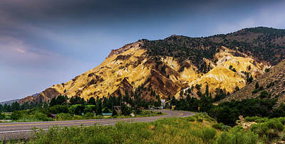 Photograph - Evening At Big Rock Candy Mountain Utah by TL Mair