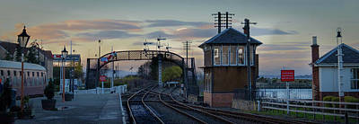 Art Print featuring the photograph Evening At Bo'ness Station by RKAB Works