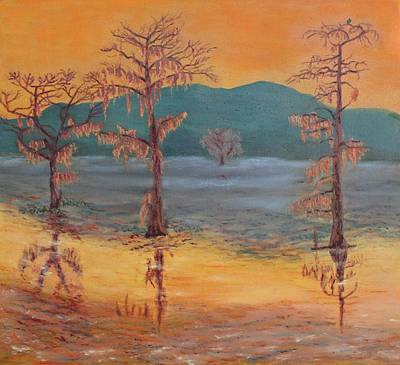 Painting - Evening On Caddo Lake by Vera Smith