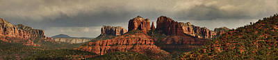 Photograph - Evening At Cathedral Rock Pano Mcd by Theo O'Connor
