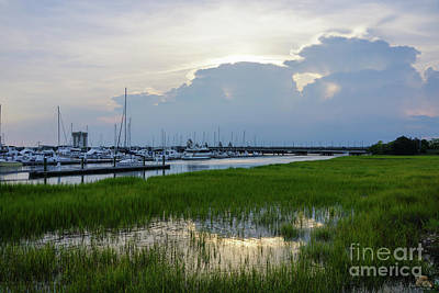 Photograph - Evening At Charleston Harbor by Jennifer White