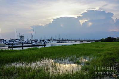 Photograph - Evening At Charleston Harbor by Jennifer White