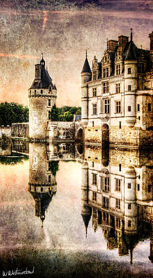 Photograph - Evening At Chenonceau Castle - Vintage Version by Weston Westmoreland