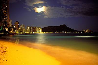 Photograph - Evening At Diamond Head by William Waterfall - Printscapes