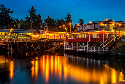 Photograph - Evening At Friday Harbor by TL  Mair