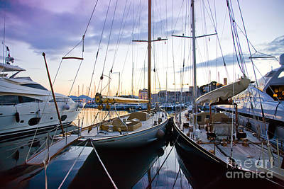 Art Print featuring the photograph Evening At Harbor  by Ariadna De Raadt