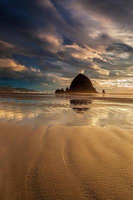 Photograph - Evening At Haystack Rock by Andrew Soundarajan