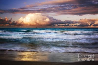 Evening At Kailua Beach Art Print by Charmian Vistaunet