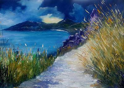 Painting - Evening At Keem Bay Co Mayo by Conor Murphy