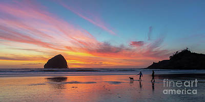 Tim Moore Photograph - Evening At Kiwanda by Tim Moore