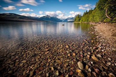 Apgar Photograph - Evening On Lake Mcdonald by Matt Hammerstein