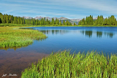 Photograph - Evening At Little Molas Lake by Jeff Goulden