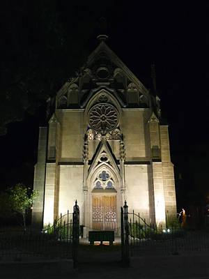 Churches Photograph - Evening At Loretto Chapel Santa Fe by Kurt Van Wagner