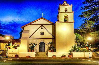 Photograph - Evening At Mission San Buenaventura by Dutch Ducharme