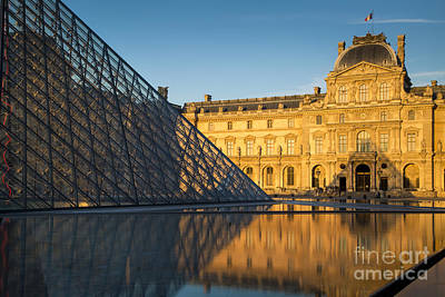 Photograph - Evening At Musee Du Louvre by Brian Jannsen