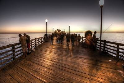 Photograph - Evening At Oceanside Pier by Dusty Wynne