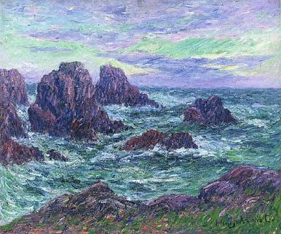 Waters Painting - Evening At Ouessant by Henri Moret