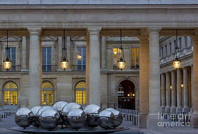 Photograph - Evening At Palais Royal - Paris by Brian Jannsen