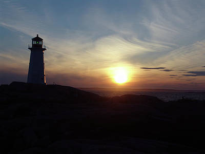 Photograph - Evening At Peggy's Cove by George Cousins