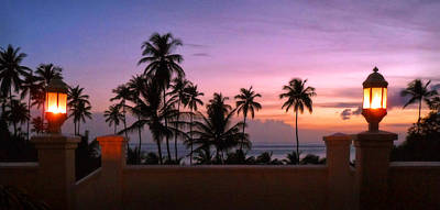 Photograph - Evening At St. Lucia Resort by Carolyn Derstine