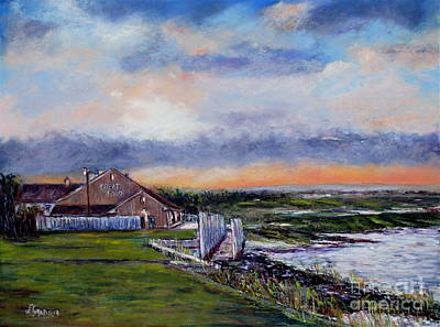 Evening At The Bay Art Print by Joyce A Guariglia