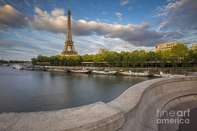 Photograph - Evening At The Eiffel - Paris by Brian Jannsen