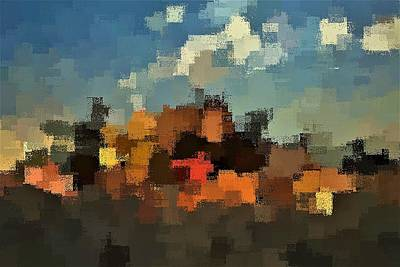 Digital Art - Evening At The Farm by David Manlove
