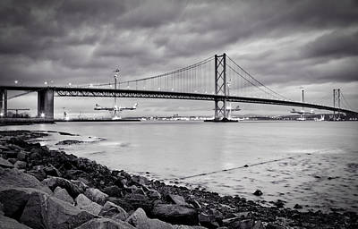 Photograph - Evening At The Forth Road Bridges by RKAB Works