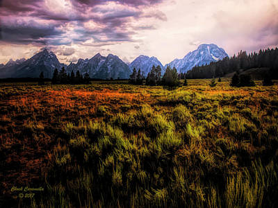 Photograph - Evening At The Grand Tetons  ... by Chuck Caramella