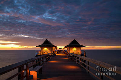 Photograph - Evening At The Naples Pier by Brian Jannsen