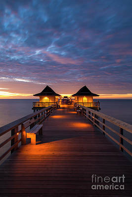 Photograph - Evening At The Naples Pier II by Brian Jannsen