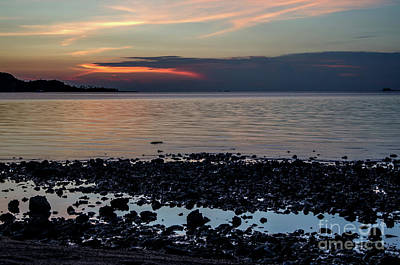 Photograph - Evening At The Seashore by Michelle Meenawong