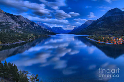 Photograph - Evening At Upper Waterton Lake by Adam Jewell