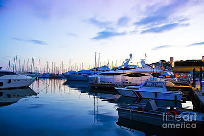 Catch Of The Day - evening at water in Cannes by Ariadna De Raadt