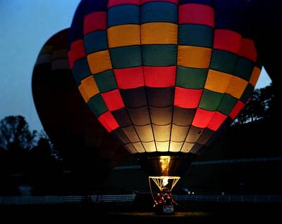 Photograph - Evening Balloon Glow by Rodney Lee Williams