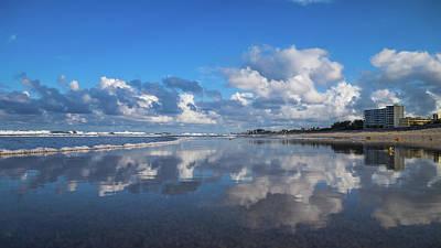 Photograph - Evening Beach Reflection Delray Beach Florida by Lawrence S Richardson Jr