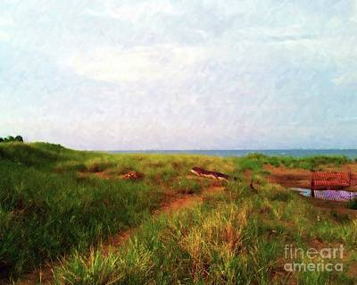 Painting - Evening Beach Walk by Desiree Paquette