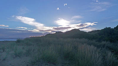 Photograph - Evening Beach With Sandhills by Nareeta Martin