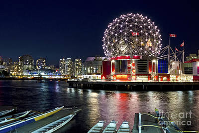 Photograph - Evening By Science World Vancouver by Maria Janicki