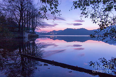 Evening By The Lake Art Print