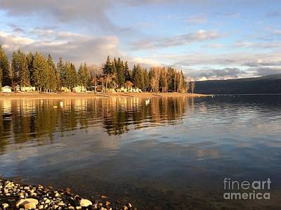 Art Print featuring the photograph Evening By The Lake by Victor K