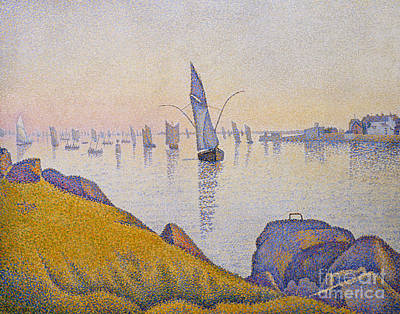 Allegri Painting - Evening Calm by Paul Signac